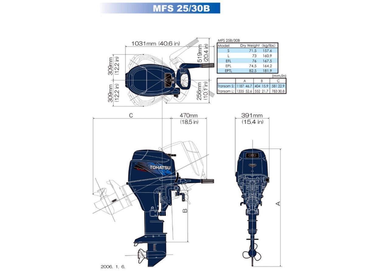 Tohatsu mfs25c efi four stroke outboard motor family boats for Tohatsu outboard motor financing
