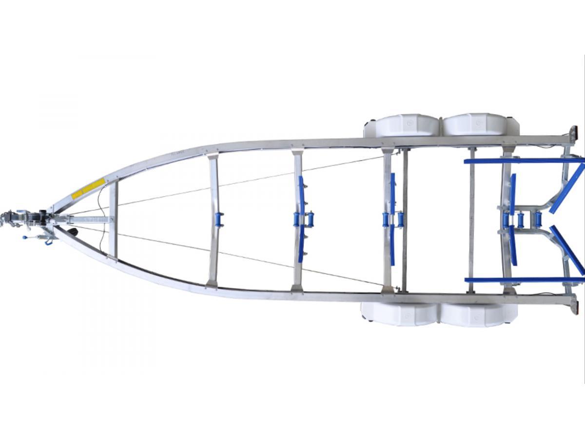 Quintrex 2000kg Alloy Tandem Multi-Roller Trailer (610) for sale